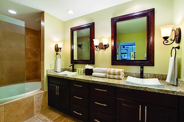 ゴールドパーシャルオーシャンビュー バスルーム|カパルアリゾート!マウイの高級コンドミニアム 画像